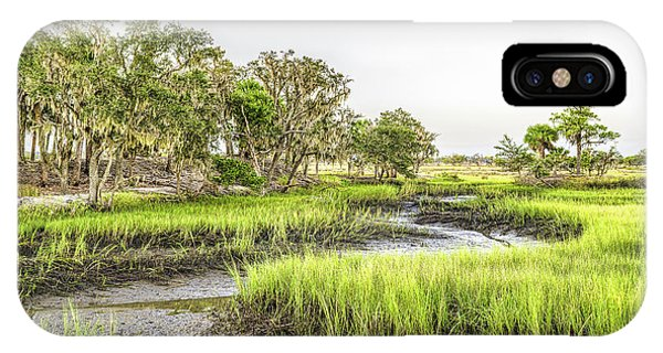 Tidal Marsh iPhone Case - Chisolm Island - Low Tide by Scott Hansen