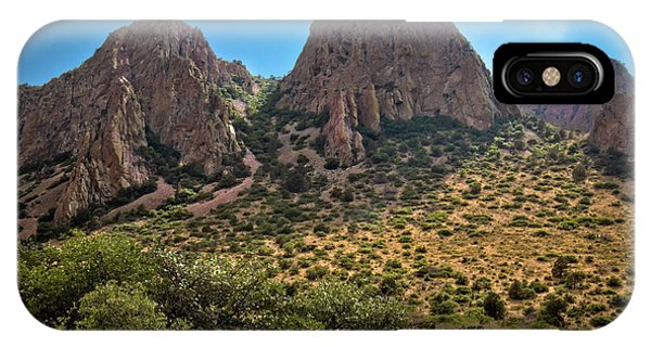 Middle Of Nowhere iPhone Case - Chisos Mountain Range by Linda Unger