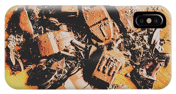 Crash iPhone X Case - Chocolate Demolition Derby by Jorgo Photography - Wall Art Gallery