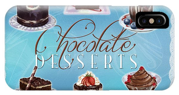 Chocolate Desserts IPhone Case