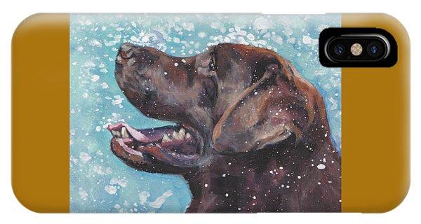 Chocolate Labrador Retriever IPhone Case