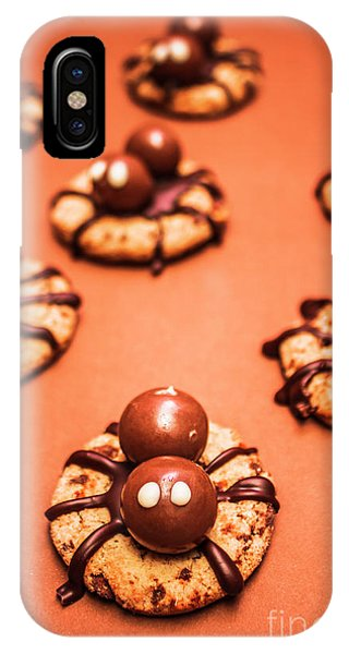 Angle iPhone X Case - Chocolate Peanut Butter Spider Cookies by Jorgo Photography - Wall Art Gallery