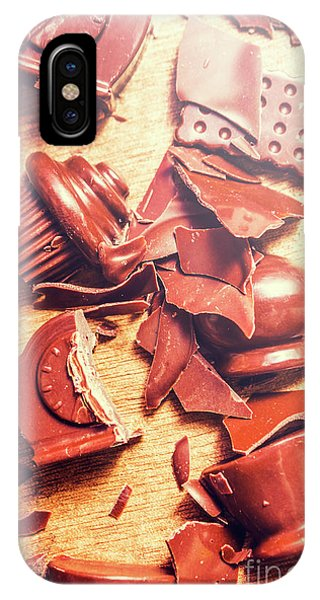 Object iPhone Case - Chocolate Tableware Destruction by Jorgo Photography - Wall Art Gallery