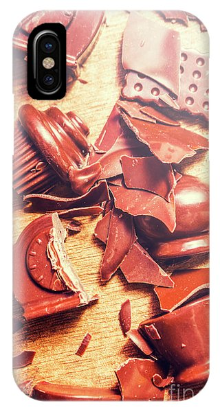 Damage iPhone Case - Chocolate Tableware Destruction by Jorgo Photography - Wall Art Gallery