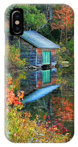 Chocorua Boathouse IPhone Case