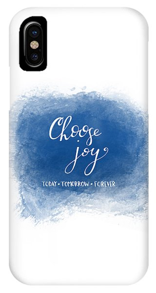 IPhone Case featuring the mixed media Choose Joy by Nancy Ingersoll