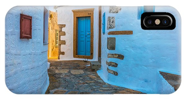 Greece iPhone X Case - Chora Alley by Inge Johnsson