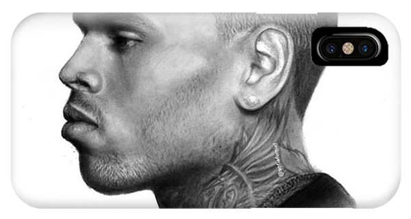 iPhone Case - Chris Brown Drawing By Sofia Furniel by Jul V