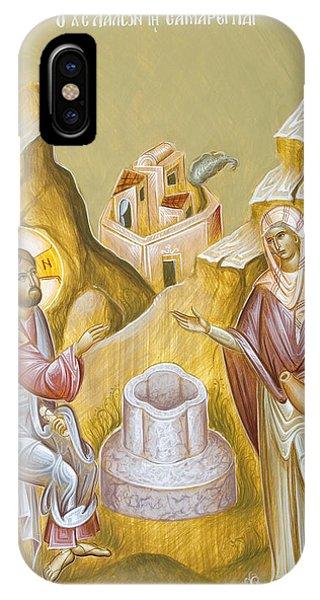 Christ And The Samaritan Woman Phone Case by Julia Bridget Hayes