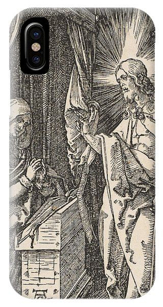 Albrecht Durer iPhone Case - Christ Appearing To His Mother, From The Small Passion by Albrecht Durer