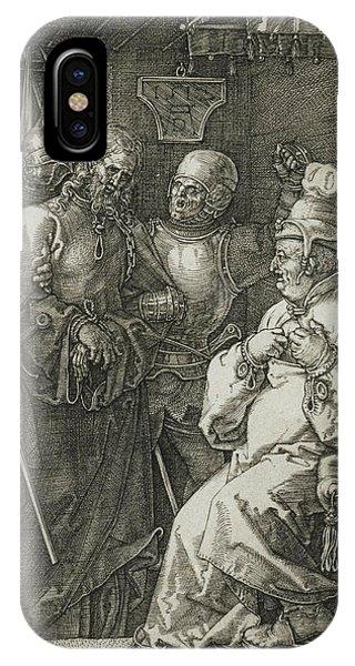 Albrecht Durer iPhone Case - Christ Before Caiaphas by Albrecht Durer