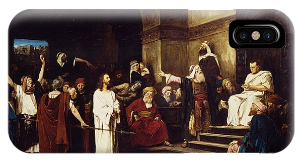 Life Of Christ iPhone Case - Christ Before Pilate by Mihaly Munkacsy