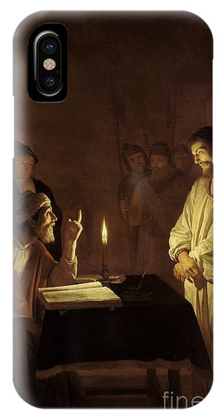 Life Of Christ iPhone Case - Christ Before The High Priest by Gerrit van Honthorst