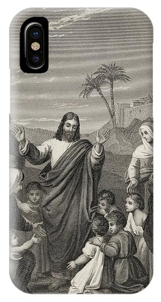 Christ Blessing The Little Children IPhone Case