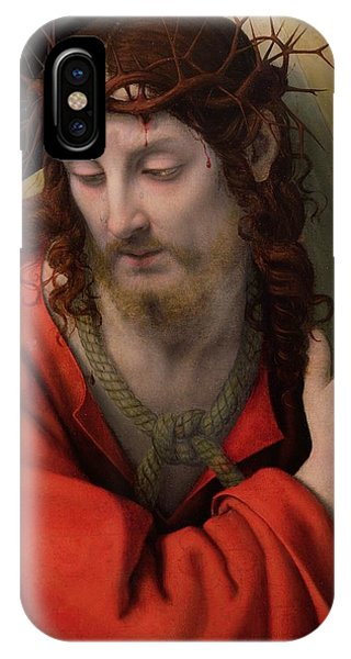 Life Of Christ iPhone Case - Christ Carrying The Cross by Andrea Solario