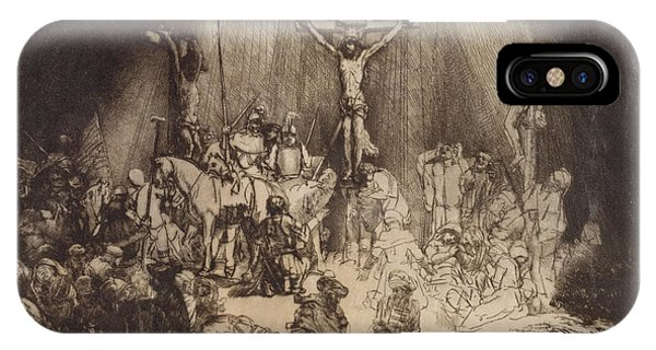 Christ Crucified Between The Two Thieves  The Three Crosses, 1653 IPhone Case