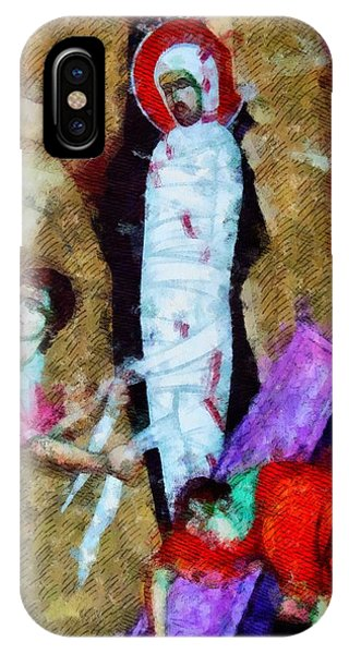 Strange iPhone Case - Christ Entombed by Esoterica Art Agency