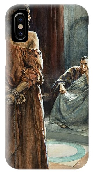 Trial iPhone Case - Christ In Front Of Pontius Pilate by Henry Coller