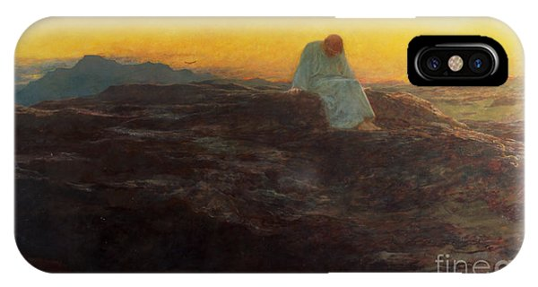 Life Of Christ iPhone Case - Christ In The Wilderness by Briton Riviere