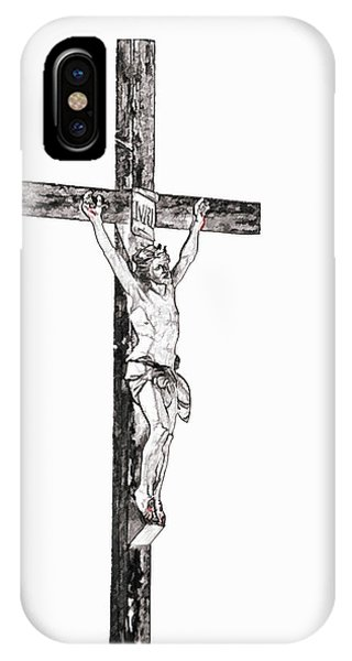 Christ On Cross IPhone Case