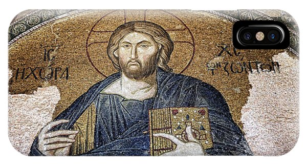 All In The Family iPhone Case - Christ Pantocrator -- Chora by Stephen Stookey