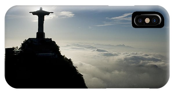 Christ The Redeemer Statue At Sunrise IPhone Case