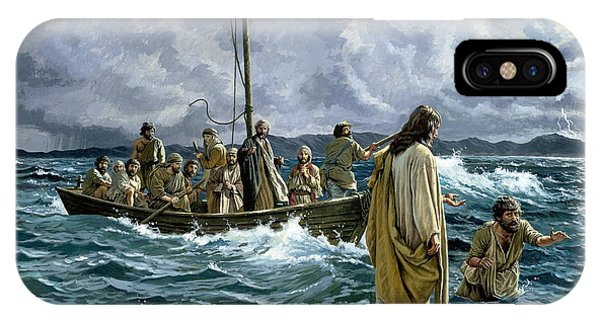 Christianity iPhone Case - Christ Walking On The Sea Of Galilee by Anonymous