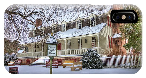 Christina Campbell Tavern Colonial Williamsburg IPhone Case