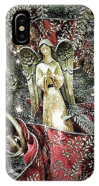 Christmas Angel Greeting IPhone Case