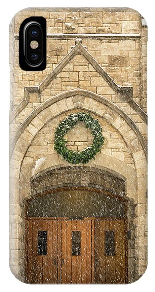 IPhone Case featuring the photograph Christmas At Stone Chapel by Allin Sorenson