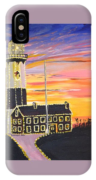Christmas At The Lighthouse IPhone Case