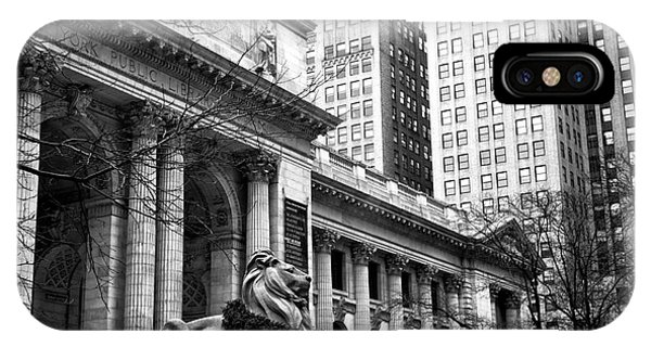 Christmas At The New York Public Library IPhone Case