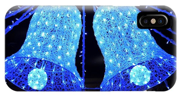 Christmas Blue Bells IPhone Case