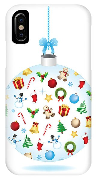 Christmas Bulb Art And Greeting Card IPhone Case