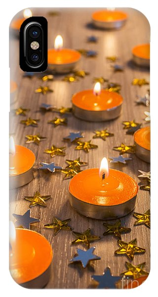 Fire Ball iPhone Case - Christmas Candles by Carlos Caetano