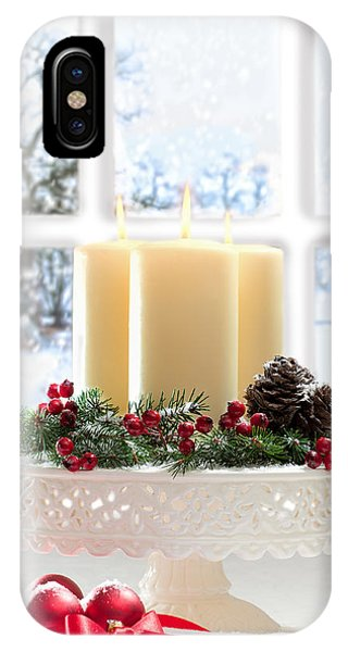 Christmas Candles Display IPhone Case