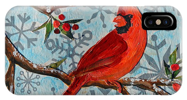 Christmas Cardinal IPhone Case