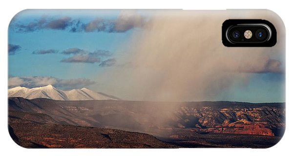 Christmas Day Snow Mix San Francisco Peaks IPhone Case