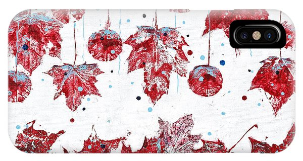 Christmas Decorations Of Nature IPhone Case