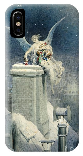 Santa Claus iPhone Case - Christmas Eve by Gustave Dore