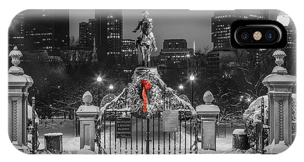 Christmas Eve In Boston Phone Case by Ryan McKee