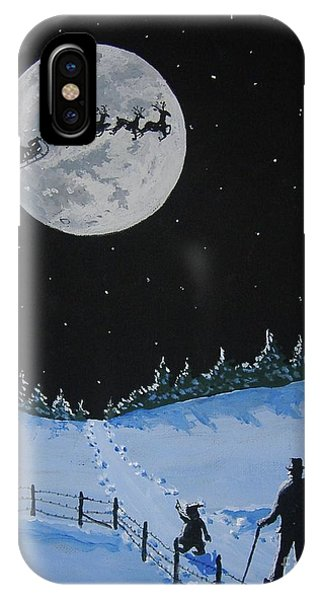 Christmas Eve Stroll IPhone Case