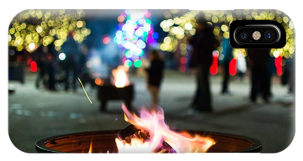 Christmas Fire Pit IPhone Case