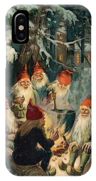 Elf iPhone X Case - Christmas Gnomes by English School