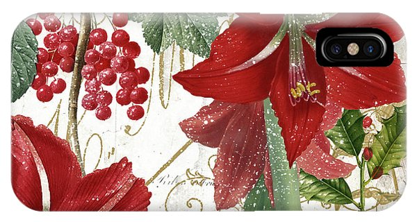 Amaryllis iPhone Case - Christmas In Paris II by Mindy Sommers