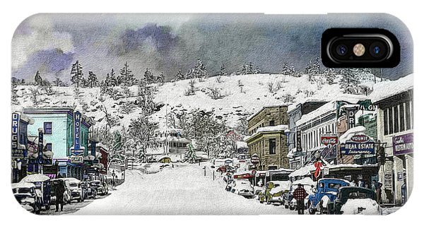 Christmas In Susanville, 1953 IPhone Case