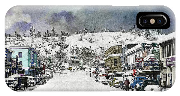 IPhone Case featuring the photograph Christmas In Susanville, 1953 by The Couso Collection