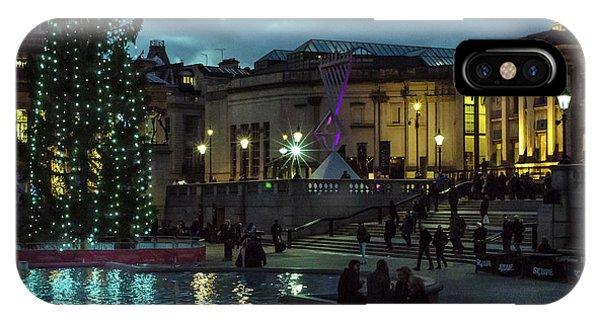 Christmas In Trafalgar Square, London 2 IPhone Case