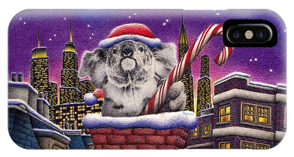 Christmas Koala In Chimney IPhone Case
