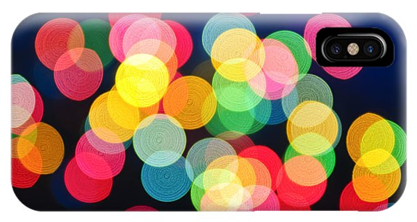 Holidays iPhone Case - Christmas Lights Abstract by Elena Elisseeva